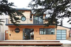 We're Super Jealous of the Woodwork in This Northern Cali Home Deck Railings, Horse Barns, Reno, Natural Materials, Cali, Shed, Woodworking, Exterior, Mansions
