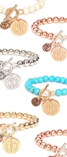 This is the perfect engraved bracelet to stack in your arm party!