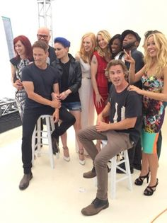 Stephen Moyer and the True Blood gang at the EW photo shoot at Comic Con