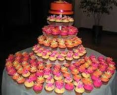 Cupcake Table for Sweet 16 Birthday Party
