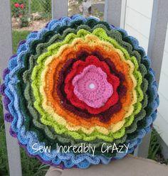 Crocket Flower Power Pillow