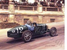 William Grover-Williams in his Bugatti T35B was the winner of the inaugural 1929 Monaco Grand Prix.