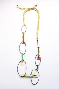 """Birds flying high"" (Nina Simone – Feeling good), pendant, 2013 materials: steel, wood, aluminium, paper rope, paint, silver"