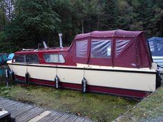 A Dawncraft 6 berth motor cruiser. Motor Cruiser, Boats For Sale, Van, Vans