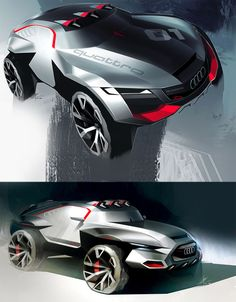 Rally King Concept Car by Tony Chen.like I've always said, if the production version looked like the concept rather than the same old thing on the showroom floor! Car Design Sketch, Car Sketch, Design Transport, Design Autos, Automobile, Super Images, Offroader, Transporter, Futuristic Cars