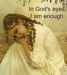 I am enough I Am Enough, Gods Eye, Daughters Of The King, You're Beautiful, Best Self, Flower Girl Dresses, Bride, Clothes For Women, Wedding Dresses