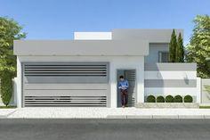 planta de casa com fachada moderna