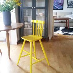 Når søndagen bestod av varetelling og regn, så dukket denne gule,kule søte stolen opp på finn.no!😀😀😀 DA var dagen fullkommen 😁