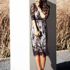 Asos Black Floral Lace Pattern Dress