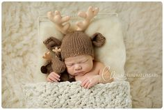 baby laying in a wreath of antlers - Google Search