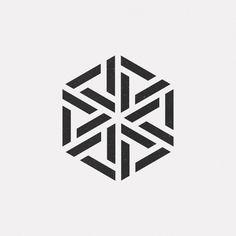 Snowflake looking hexagonal design Logo Design, Shape Design, Icon Design, Design Art, Pattern Design, Geometric Shapes Design, Geometric Graphic, Bussiness Card, 1 Tattoo
