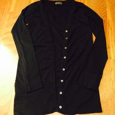 Michael Stars Cardigan!! Simple black Michael Stars cardigan! Perfect for fall!! Longer design and very good quality! Great condition!! Tag says one size but I would say it fits like a medium! Michael Stars Sweaters Cardigans