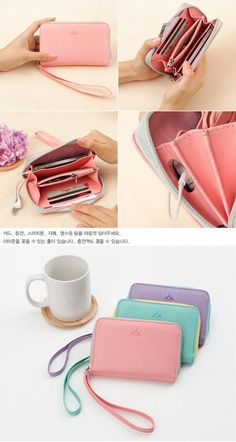 Smart wallet/ pouch (these are the perfect colors for my wedding!!!)