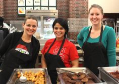 Faculty and staff served late-night breakfast. Your bosses working for you? How about that!