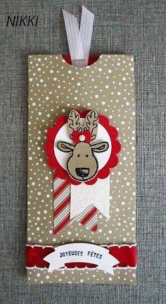 Christmas Card Greetings : Illustration Description Plus Christmas Gift Card Holders, Christmas Card Crafts, Christmas Paper, Xmas Cards, Handmade Christmas, Holiday Cards, Reindeer Christmas, Gift Cards Money, Fun Fold Cards