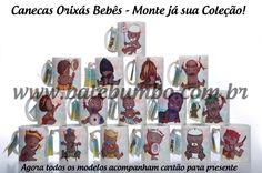 Coleção Canecas Orixas Bebês!!