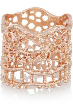 Aurélie Bidermann rose gold ring