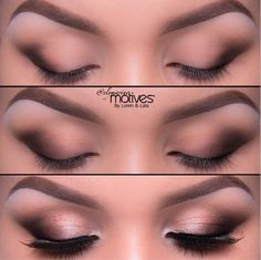 A gorgeous brown smoky eye for some weekend inspiration by makeup artist Ely Marino. Come onto Pampadour to find out how to get the look.