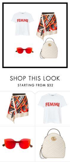 """Femme"" by zeynepkartal on Polyvore featuring moda, Carven, Miss Selfridge, RetroSuperFuture ve Gucci"