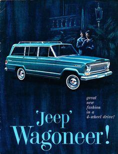 1965 Jeep Wagoneer 12 Page Original Sales Brochure Vintage Jeep, Vintage Trucks, Vintage Ads, Old Jeep, Jeep Jeep, Military Jeep, Jeep Wagoneer, Car Brochure, Old Tractors