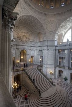 San Francisco, City Hall, Stairs, Interior, Architecture photo ideas from Amazing Stairs Ideas Baroque Architecture, Beautiful Architecture, Beautiful Buildings, Architecture Design, Beautiful Places, Stairs Architecture, Garde Corps Design, Home Shooting, Photographie Portrait Inspiration