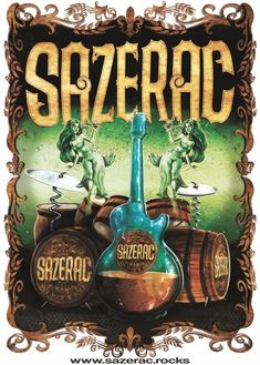Sazerac poster design Rock N Roll, Graphic Design, Christmas Ornaments, Holiday Decor, Drawings, Artwork, Poster, Painting, Sketches