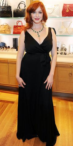 Look of the Day - October 30, 2012 - Christina Hendricks in Chopard from #InStyle