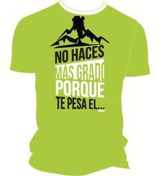 Camiseta técnica lima No haces más para escaladores. #escaladores #bloqueros #camisetas #tees