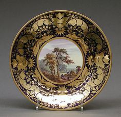 Plate (part of a service) Crown Derby - century. Royal Crown Derby, Bone China, Floral Design, Decorative Plates, Cups, Cabinet, Board, Beautiful Things, 19th Century