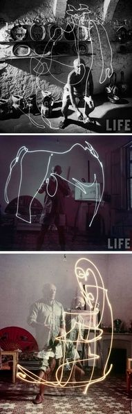 Picassos light painting