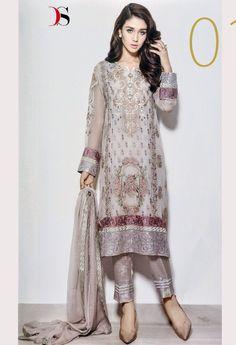 Off White Designer Georgette Salwar Kameez 36328