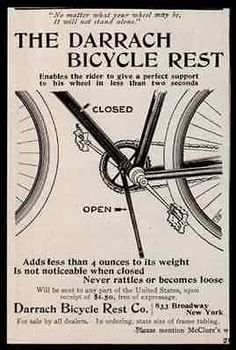 Bicycle Rest Ad 1896 Darrach Broadway NY Cycling Antique Bike Advertising