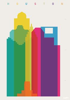 Shapes of Houston. Accurate to scale. shapesofcities.com