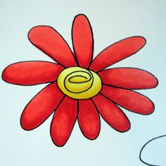 Flower Printable + Copic Marker Shading How to by Michelle Houghton