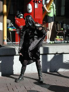 Image: sith lord down on his luck   http://www.flickr.com/photos/37102902@N00/2084825595