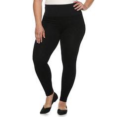 19b234b9b8255 Plus Size French Laundry MidRise Flocked Leggings, Women's, Size: 2X-3X,
