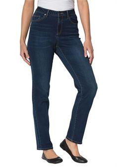 Plus Size Tall Super Stretch straight leg jeans