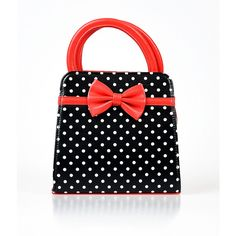 Red, Black & White Polka Dot & Bow Leatherette Handbag (2,905 MKD) ❤ liked on Polyvore featuring bags, handbags, black, bow handbag, black and white handbags, polka dot handbag, red purse and handbags purses