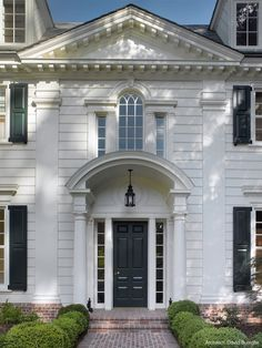 gorgeous classic house -- white with black shutters