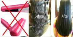 Awesome Idea How To Straighten Hair Overnight Completely Natural And Without Heat
