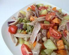 Insalata tiepida di pollo e verdure | Riciclo lesso avanzato