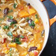 Chicken Quinoa Butternut Squash stew