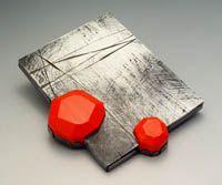 Artist: Julia Turner: Red Float Brooch