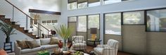 Duette® Honeycomb Shades are the original cellular shades, engineered to provide beauty and energy efficiency at the window in both cold and warm climates. Honeycomb Blinds, Honeycomb Shades, Window Coverings, Window Treatments, Living Furniture, Outdoor Furniture Sets, Cellular Shades, Living Room Colors, Living Rooms