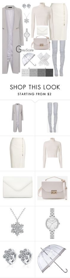 """☁ Cloud-covered sky ☁"" by iambmogirl ❤ liked on Polyvore featuring Lavish Alice, Balmain, MaxMara, A.L.C., Neiman Marcus, Kate Spade, Fulton and Black"