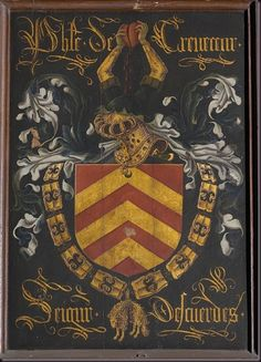 Pierre Coustain, Pieter Coustens (1420-1491/1502). Shield_of_Philippe_de_Crevecoeur_as_knight_of_the_Order_of_the_Golden_Fleece