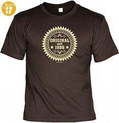 Birthday Shirt - Original seit 1986 - Lustiges T-Shirt als Geschenk zum Geburtstag - Braun, Größe:L (*Partner-Link)