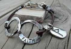Custom Faith Bracelet with Infinity Charm by Cindys Art + Soul Jewelry