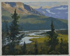 Gabor #Svagrik Saskatchewan River Crossing  (paper study)