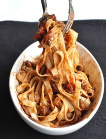 Mushroom Bolognese.  I have been looking for a vegetarian Bolognese recipe forever!!! MUST try this!!!